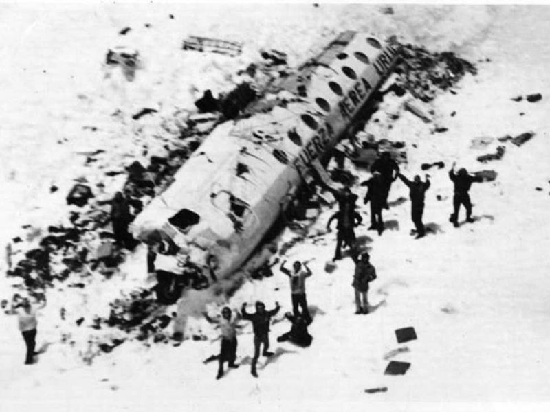 Survivors from Old Christians Rugby Club following the plane crash