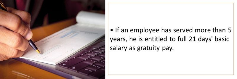 Who is entitled to gratuity 27