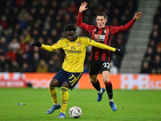Arsenal defeated Bournemouth 2-1 in the FA Cup.