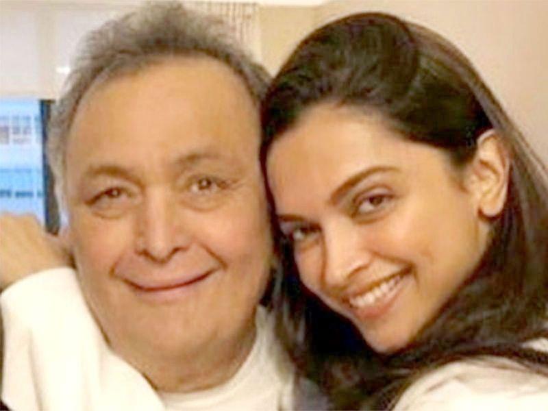 Deepika Padukone and Rishi Kapoor