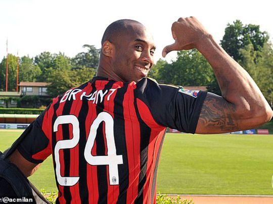 Kobe Bryant was a huge AC Milan fan.