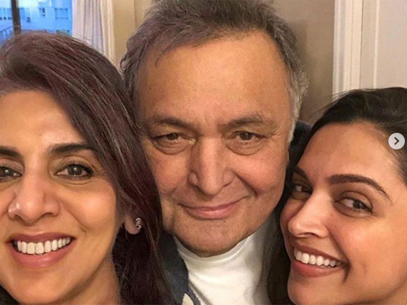 Neetu Singh, Rishi Kapoor and Deepika Padukone