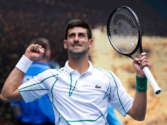 Novak Djokovic defeated Dominic Thiem to set up a clash with Roger Federer.