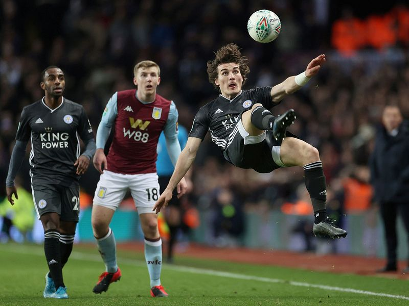 Leicester City's Caglar Soyuncu in action.