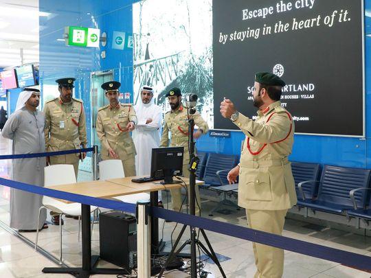 Dubai Police Chief inspects Measures against Coronavirus at Dubai Airports