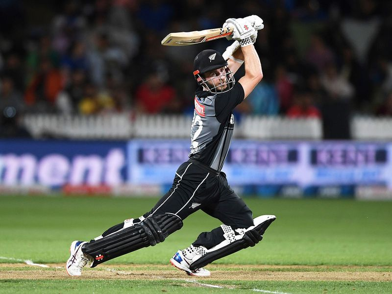 New Zealand captain Kane Williamson bats.