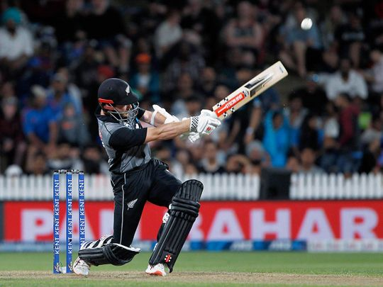 New Zealand's Kane Williamson plays a shot during T20 against India at Seddon Park in Hamilton.