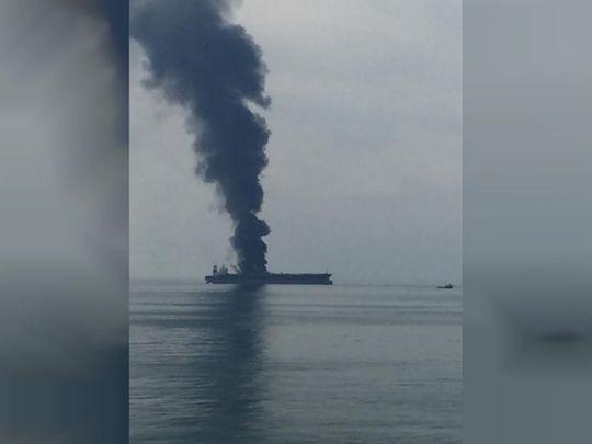 fire on board ship 01