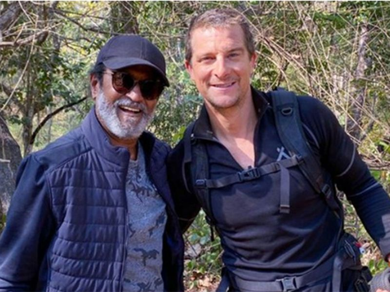 Rajnikant and BearGrylls