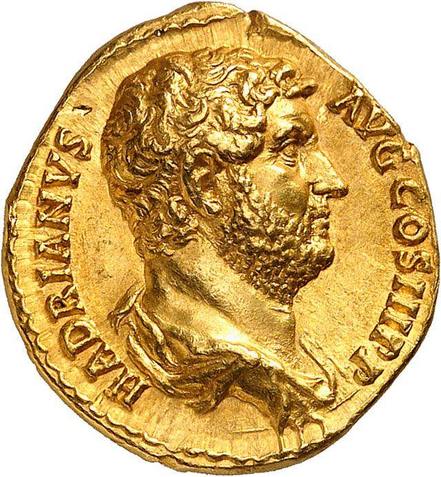 Roman Empire, Hadrian (r. 117-138 AD), gold aureus, Rome