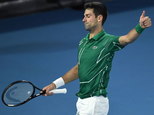 Serbia's Novak Djokovic was too strong for Roger Federer in their semi-final match at the Australian Open