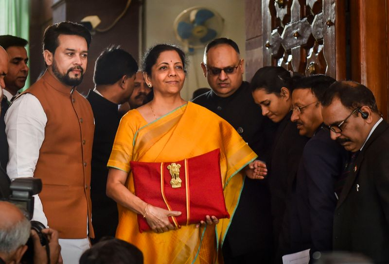 Indian Finance Minister Nirmala Seetharaman all set to present the 2020 Budget