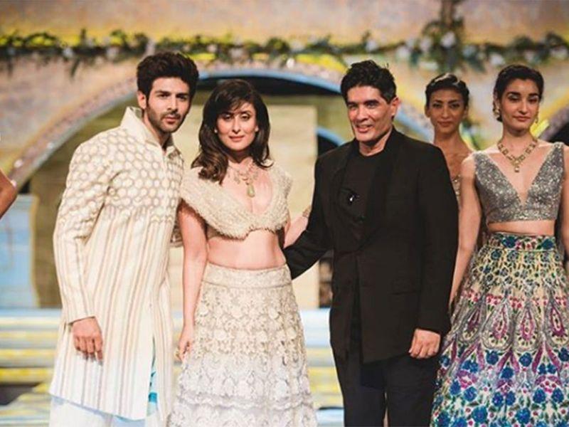 Kareena Kapoor, Kartik Aaryan and Manish Malhotra