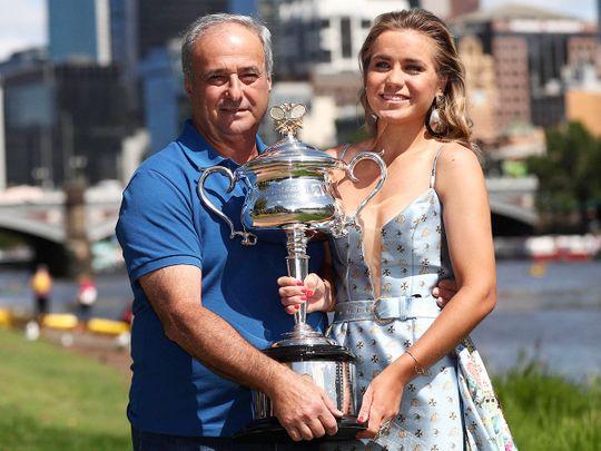 Sofia Kenin and her father Alex Kenin