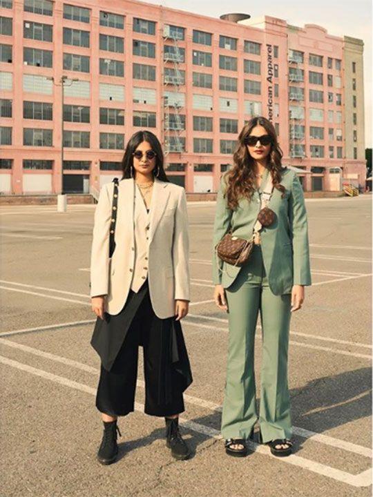 Sonam and Rhea Kapoor in Los Angeles