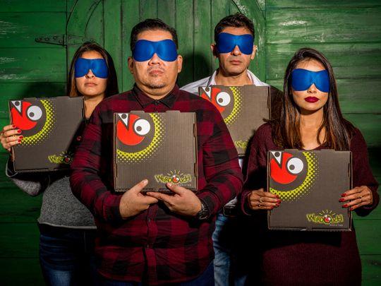 Weirdough pizza Gulf News blindfold challenge