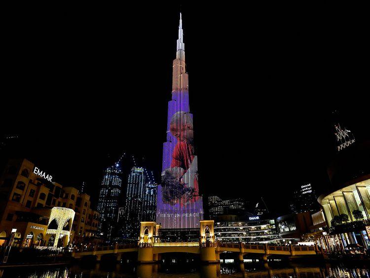 Dubai's Burj Khalifa pays tribute to Kobe Bryant