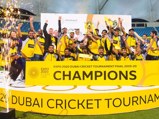 Laing O'Rourke team that beat CoEX in Expo 2020 Dubai cricket tournament final.