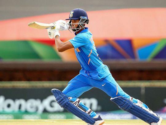 Yashasvi Jaiswal of India bats his way to an unbeaten century against Pakistan