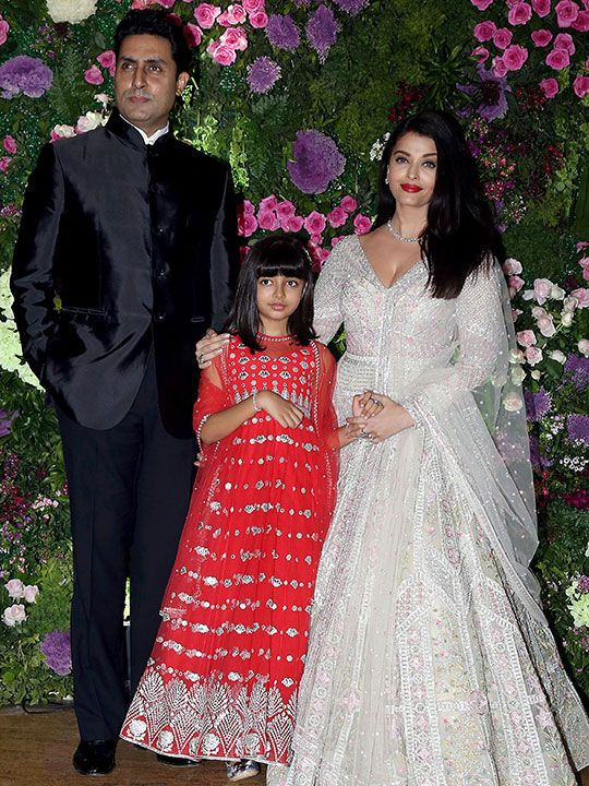 Abhishek Bachchan with wife Aishwarya Rai Bachchan and daughter Aaradhya Bachchan.