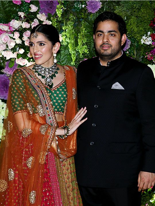 Akash Ambani with wife Shloka Ambani