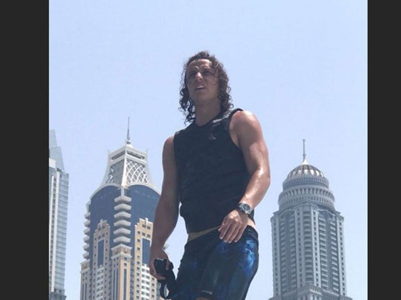 Arsenal's David Luiz in Dubai