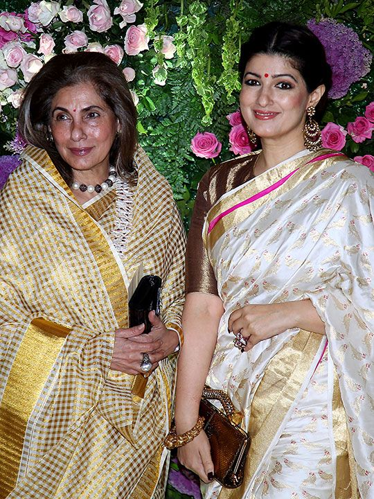 Bollywood actress Dimple Kapadia with her daughter Twinkle Khanna.