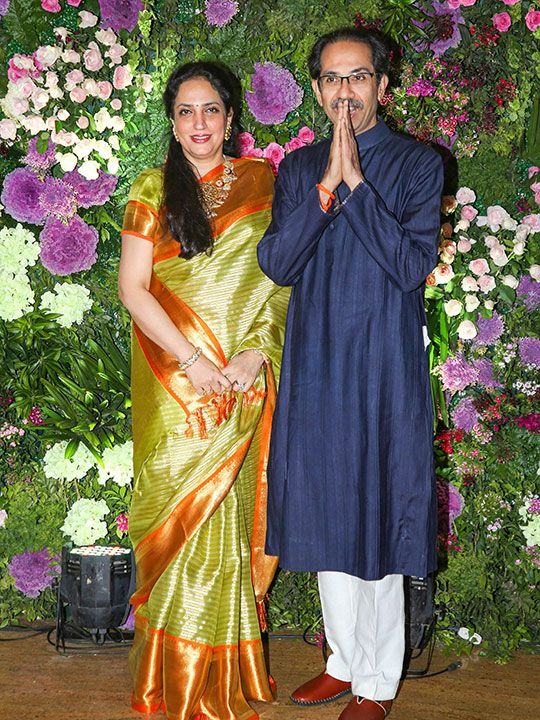Maharashtra Chief Minister Uddhav Thackeray and his wife Rashmi Thackeray