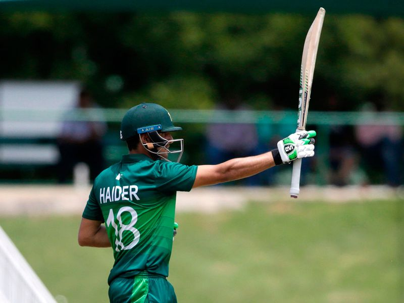 Pakistan's Haider Ali takes the plaudits for his fifty in Potchefstroom