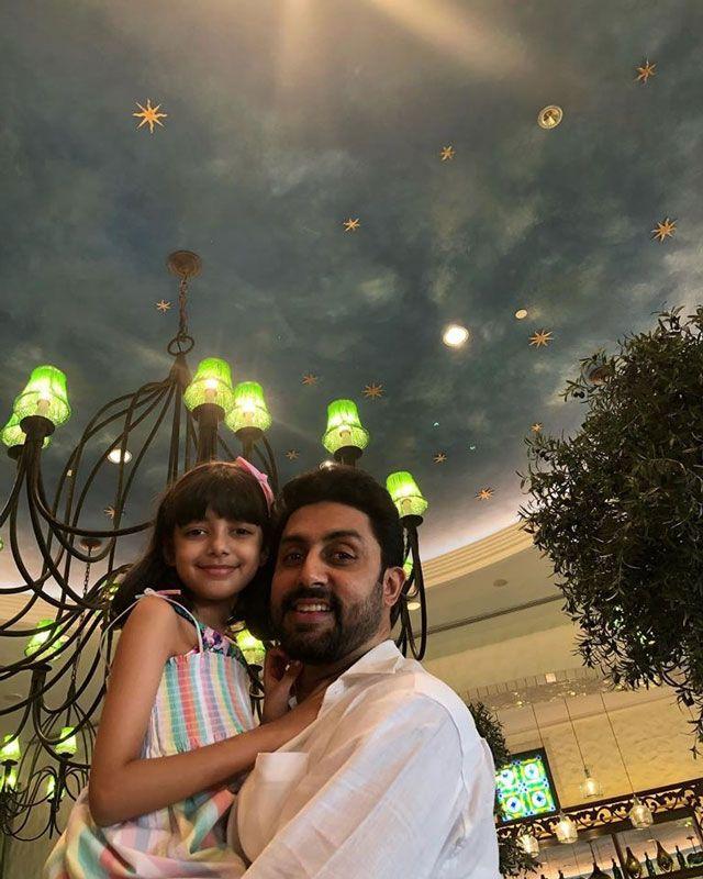 Abhishek with his daughter Aaradhya.