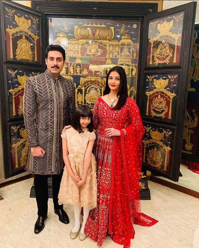 Aishwarya and Abhishek with their daughter Aaradhya.