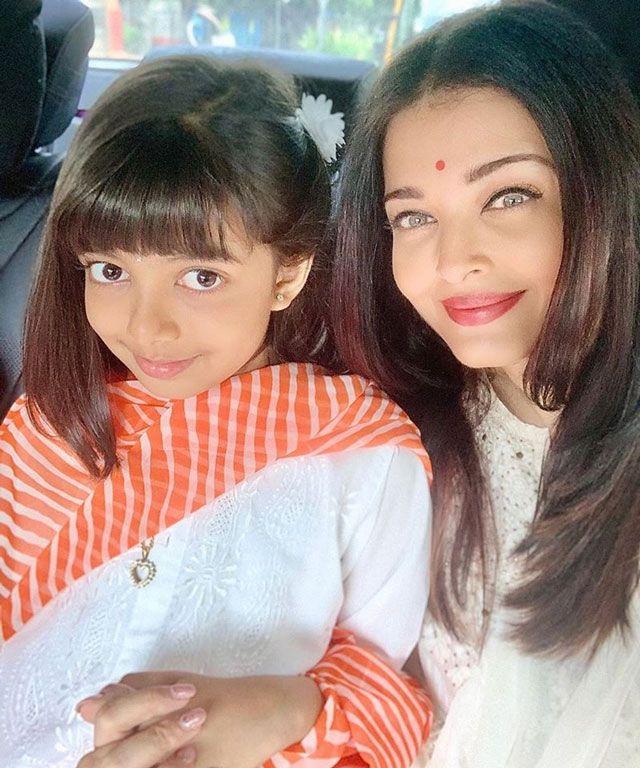 Aishwarya with her daughter Aaradhya.