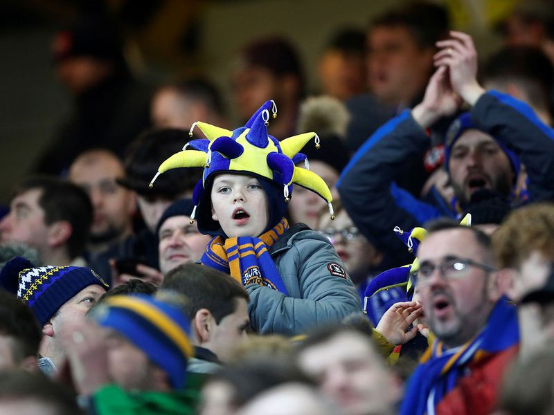 Shrewsbury Town fans  Action Images via Reuters/Jason Cairnduff
