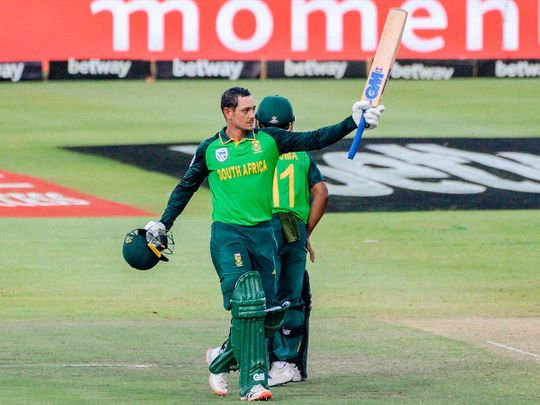 South Africa's Quinton de Kock