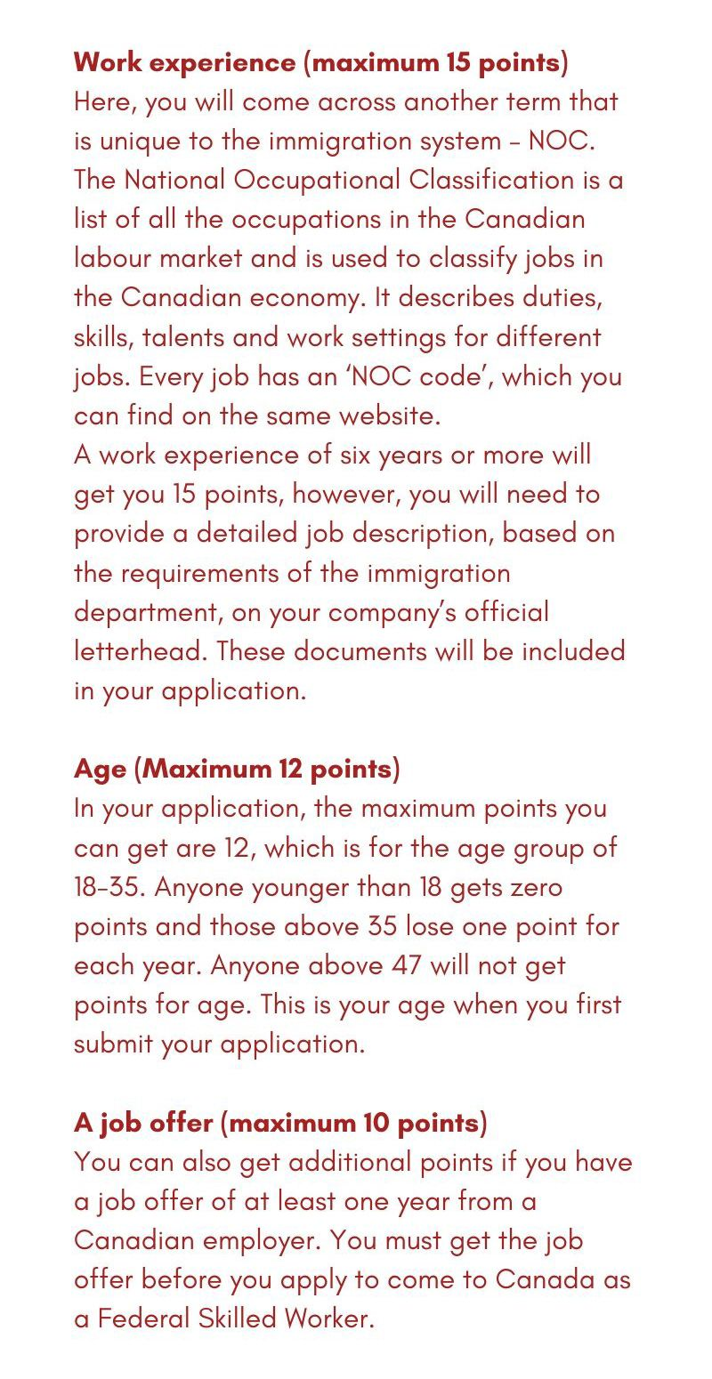Canada immigration 12 new