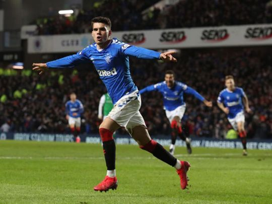 Hagi scores on his Rangers debut against Hibernian