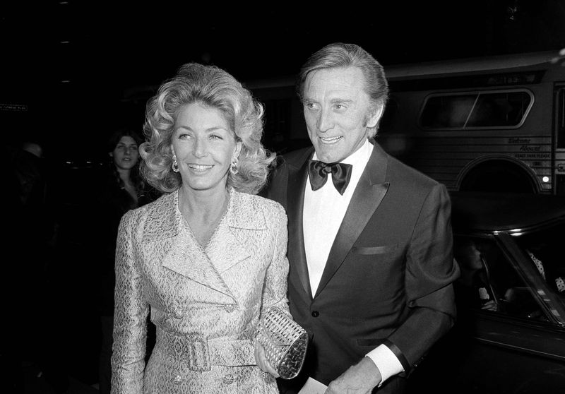 Kirk Douglas with wife Anne