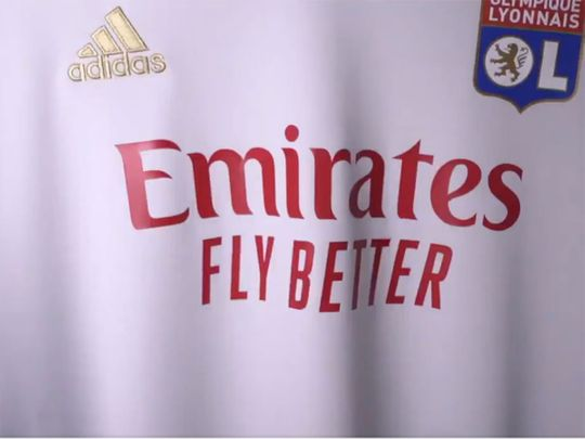 Lyon unveiled the new sponsor in a video on social media