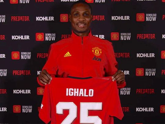 Manchester United signed Odion Ighalo on transfer window deadline day last month