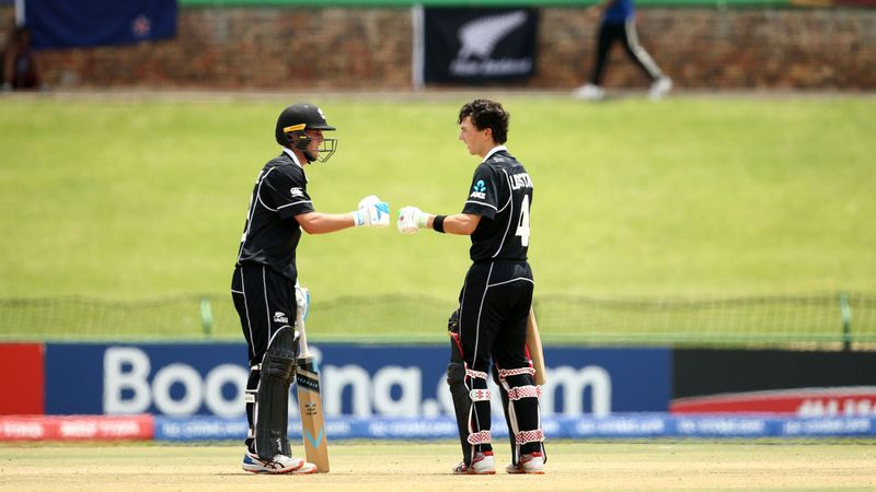 Nicholas Lidstone and Beckham Wheeler-Greenall of New Zealand celebrates a half century partnership