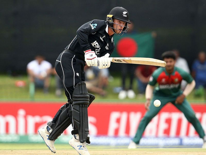 Oli White of New Zealand bats