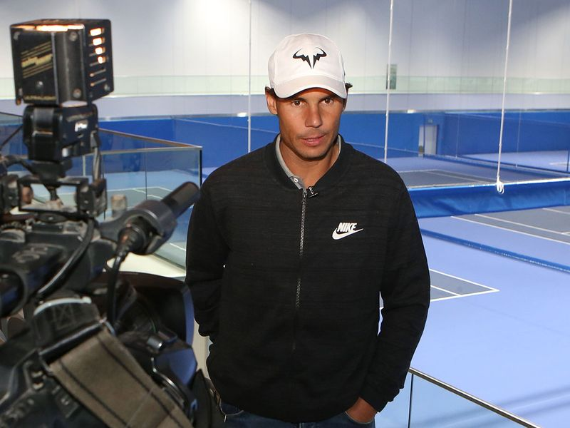 Spain's Rafael Nadal speaks during an interview with AFP about his newly inaugurated Rafa Nadal Tennis Academy in Kuwait City on February 5, 2020.  / AFP / Yasser Al-Zayyat