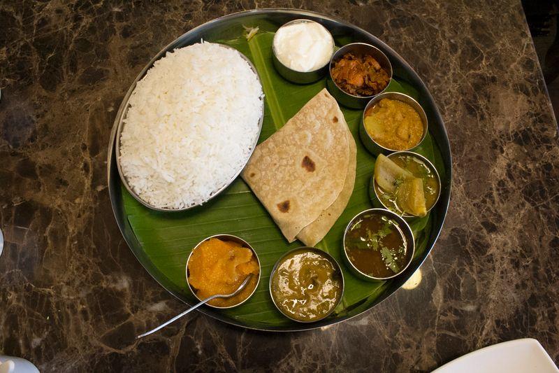 Andhra Thali at Godavari Andhra Restaurant