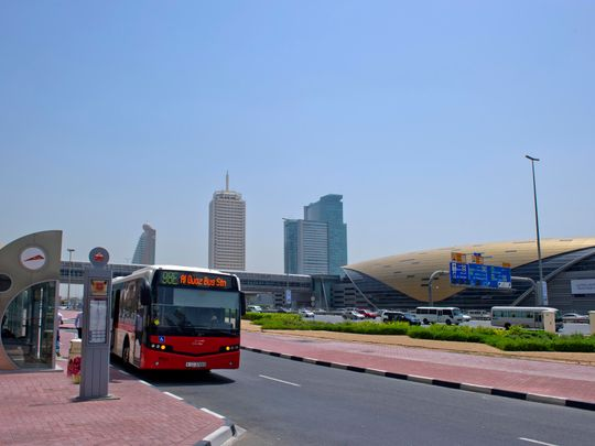 Buses are a popular mode of public transport in Dubai