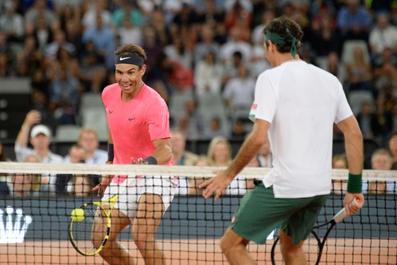 Roger Federer Rafael Nadal Play To Record Crowd In Cape Town