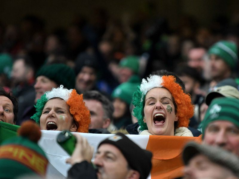 And, after their win over Scotland last week, the Irish fans were delighted to keep up their winning run