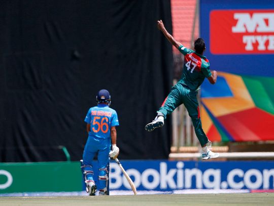 Bangladesh bowlers were flying against India