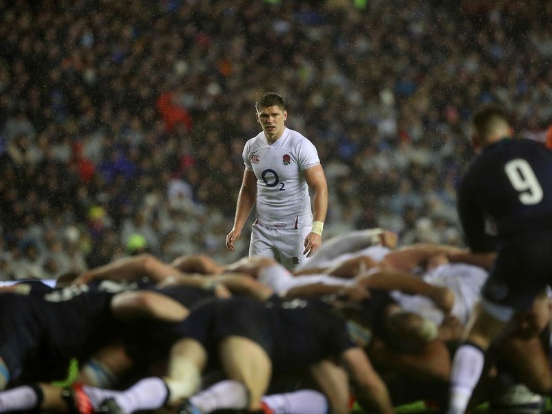 Owen Farrell was at the heart of the action as England reclaimed the Calcutta Cup in stormy weather at Murrayfield in Edinburgh