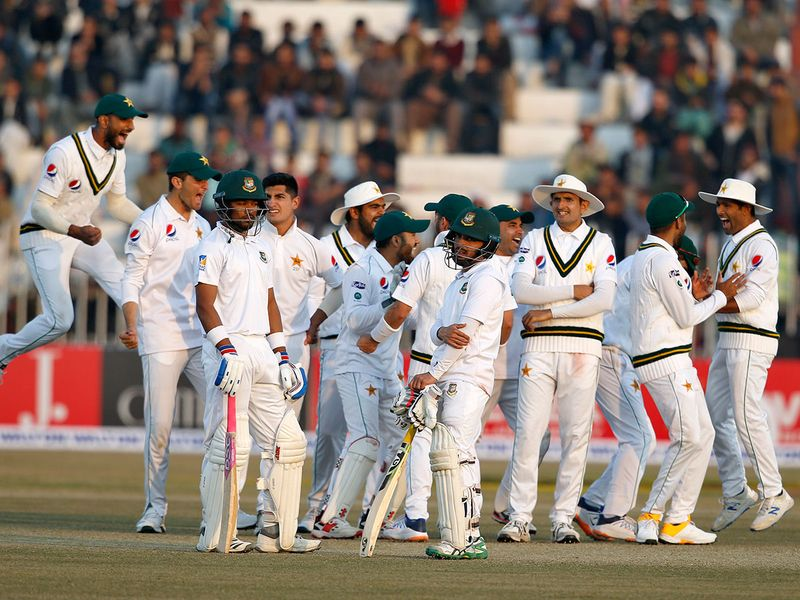 Pakistan were celebrating as Najmul Hossain Shanto was the first victim in Naseem's hat-trick