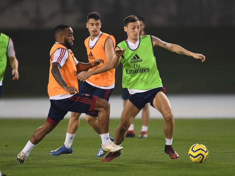 Stars such as Mesut Ozil were put through their paces as the Gunners bid to regroup and aim for a top-four place in the Premier League